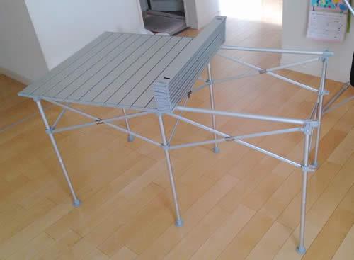 折りたたみ式の天板