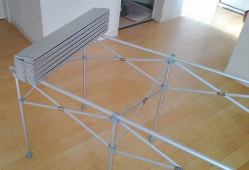 折りたたみ式の天板2