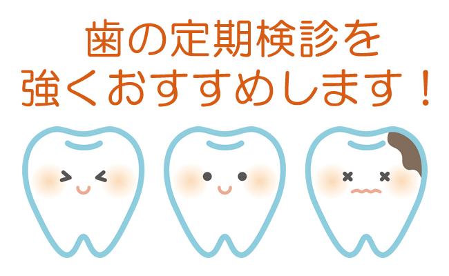 歯の定期検診を強くおすすめします!