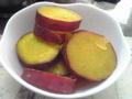 サツマイモのミカン煮