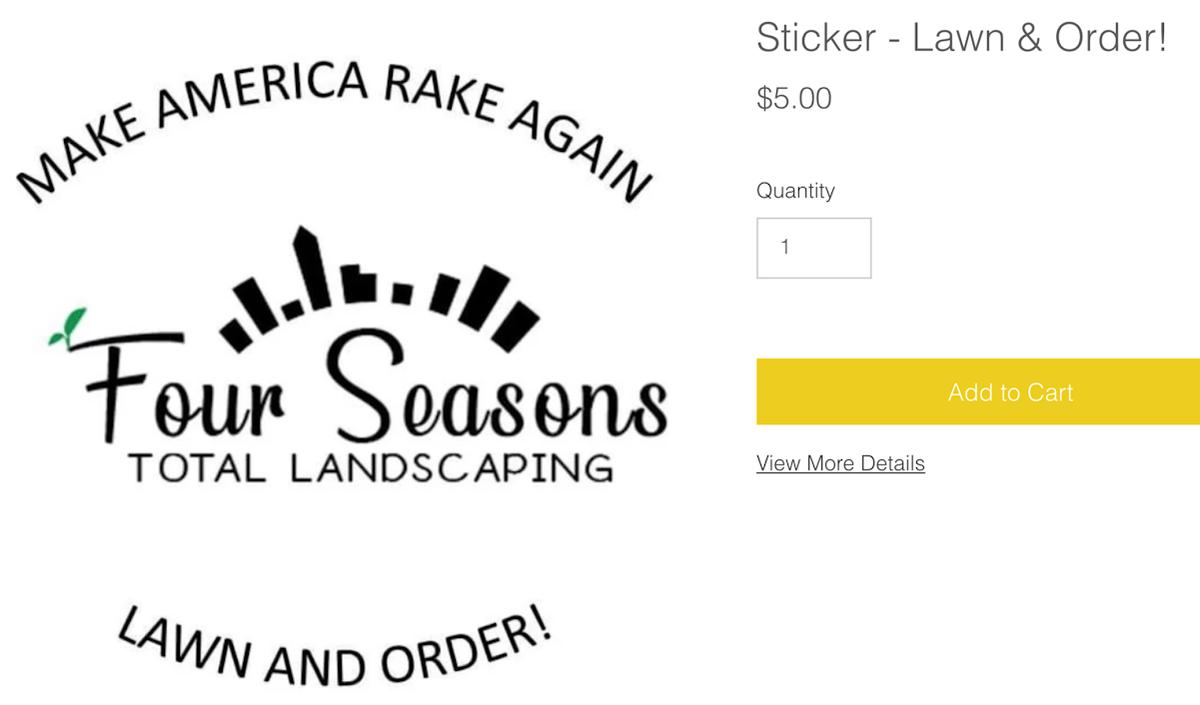 Make America rake again / lawn and order sticker