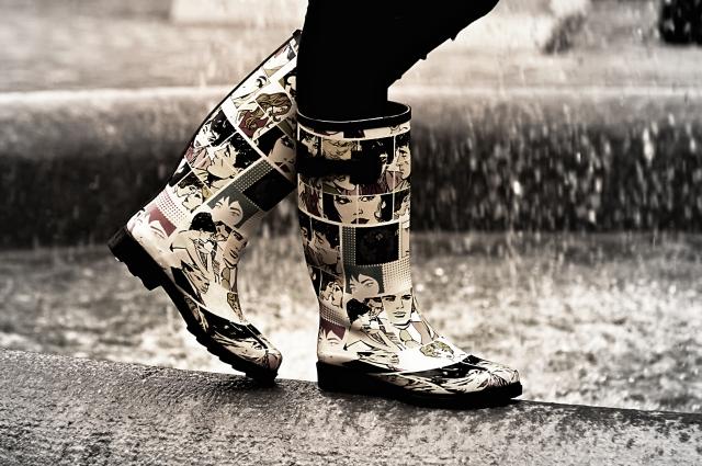雨の長靴イメージ