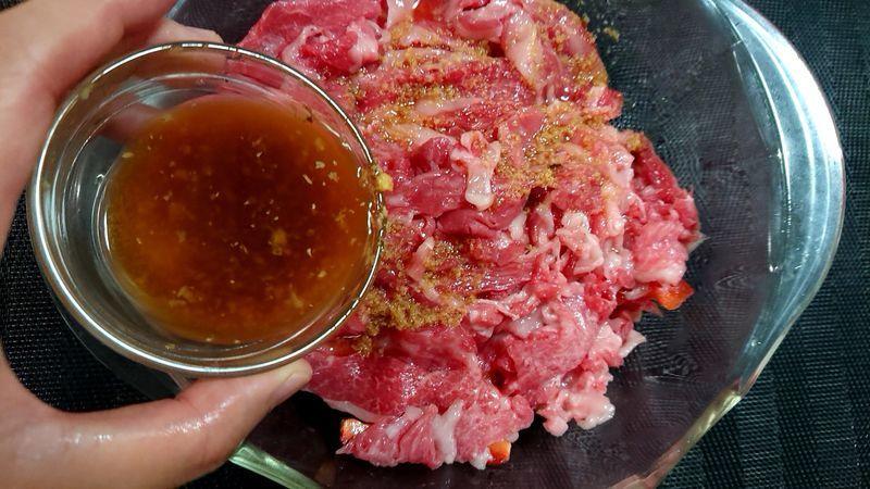 なすと牛肉のさっぱり煮_4