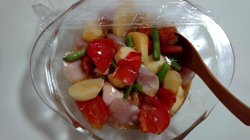 トマト風味の洋風鶏じゃが_7