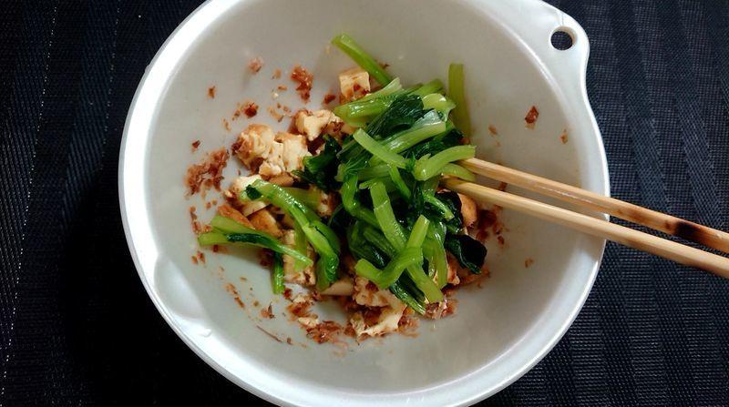 小松菜と厚揚げの白あえ_9