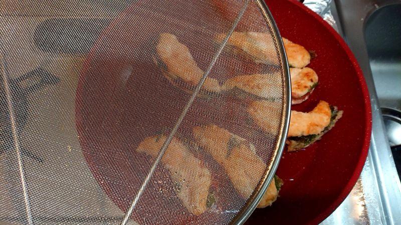 鶏ささ身の梅しそはさみ焼き_7