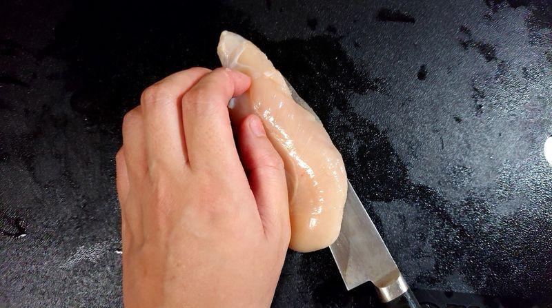 鶏ささ身の梅しそはさみ焼き_2