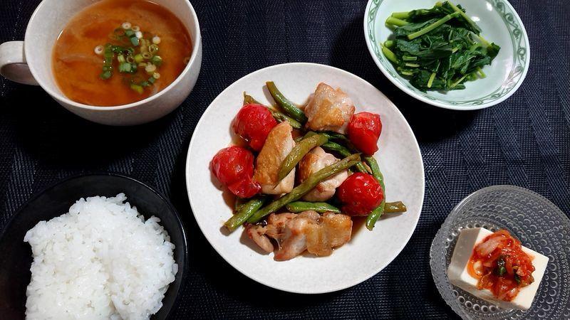 鶏もも肉の甘酢煮_食卓