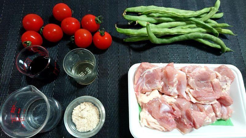 鶏もも肉の甘酢煮_材料