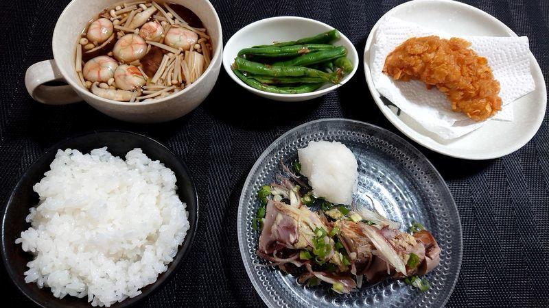 きのこ汁_食卓