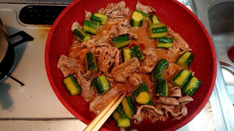 きゅうりと豚肉のスタミナ炒め_6