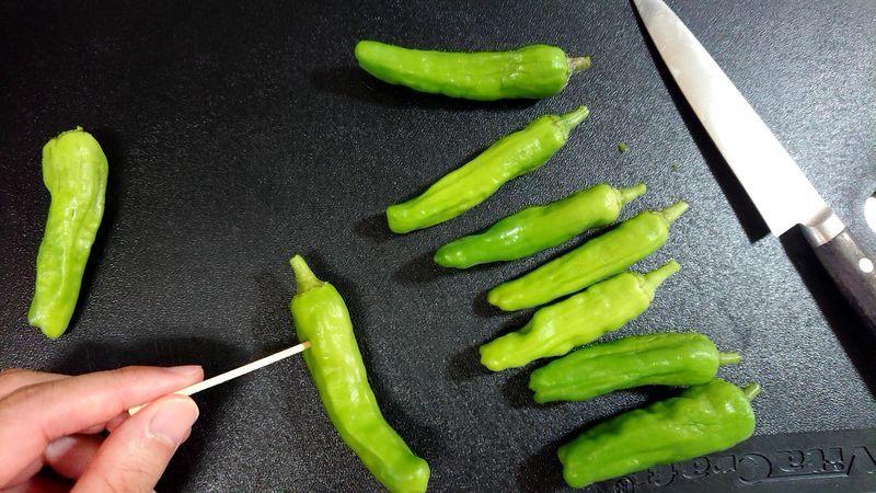 かつおとししとうのトマト黒酢びたし_1