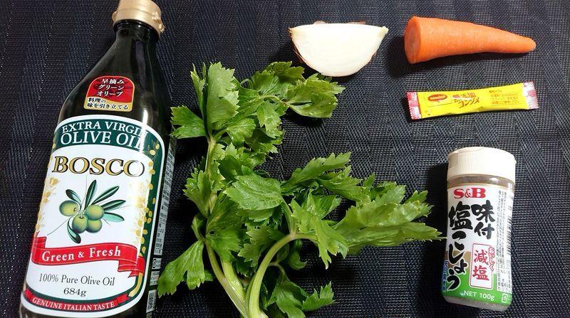 せん切り野菜のスープ_材料