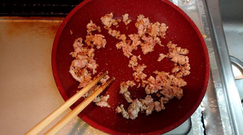 ひき肉とモヤシの卵焼きそうめん_8