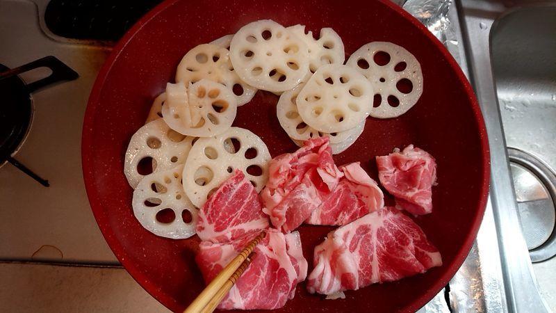 れんこんと豚肉のにんにくみそ炒め_5