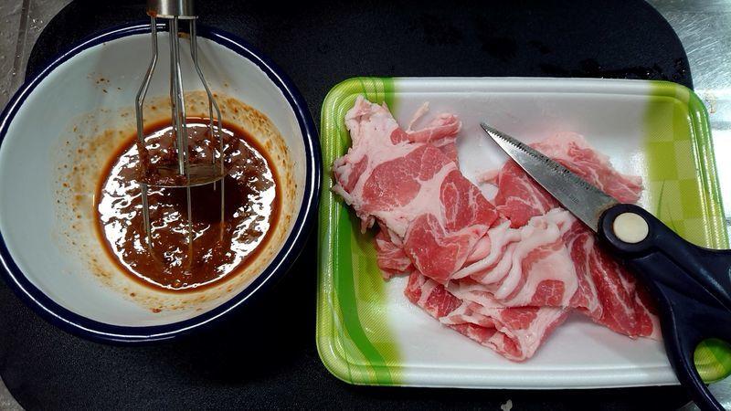 れんこんと豚肉のにんにくみそ炒め_3