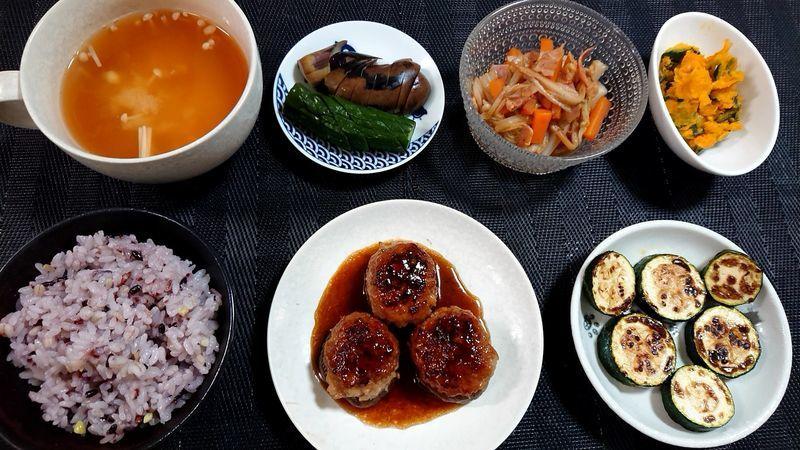 しいたけの肉詰め_食卓