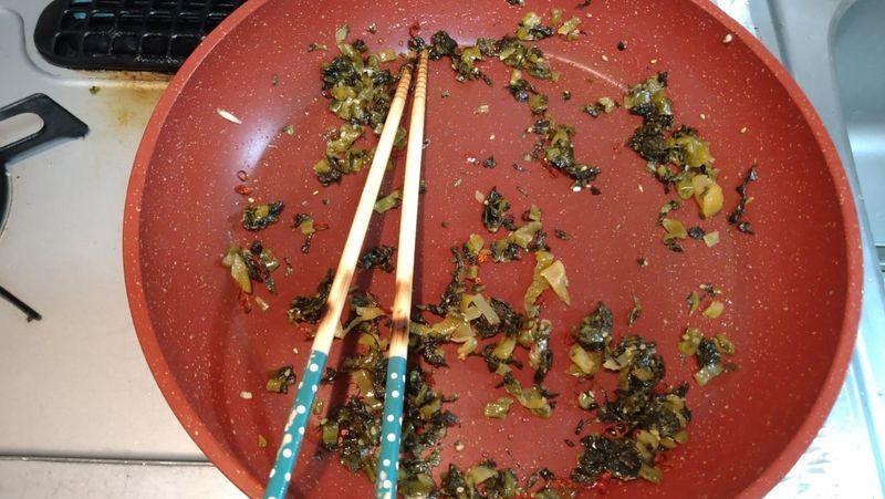 豚肉とたけのこの高菜炒め_7