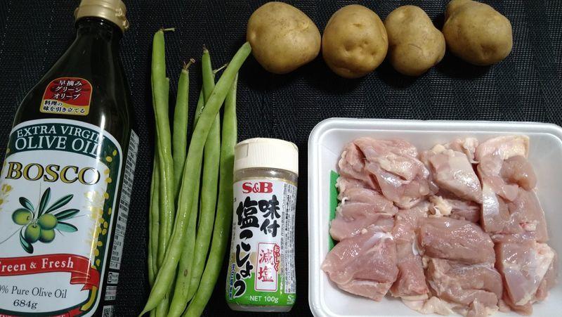 カリカリじゃがいもと鶏のソテー_材料