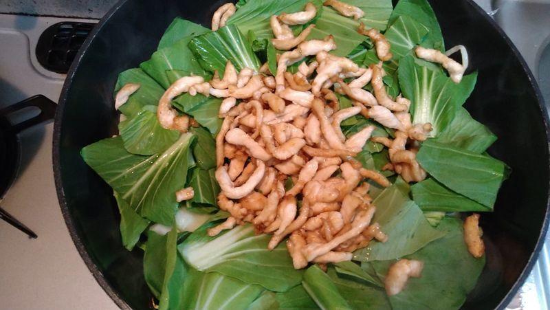 鶏むね肉とチンゲンサイの中華炒め_10
