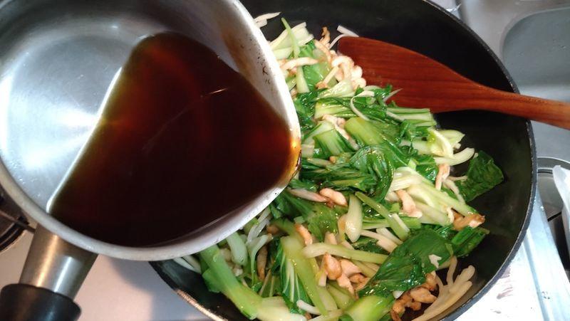 鶏むね肉とチンゲンサイの中華炒め_11