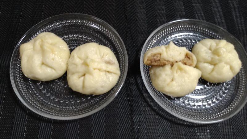 焼きショーロンポー風肉まん_食卓