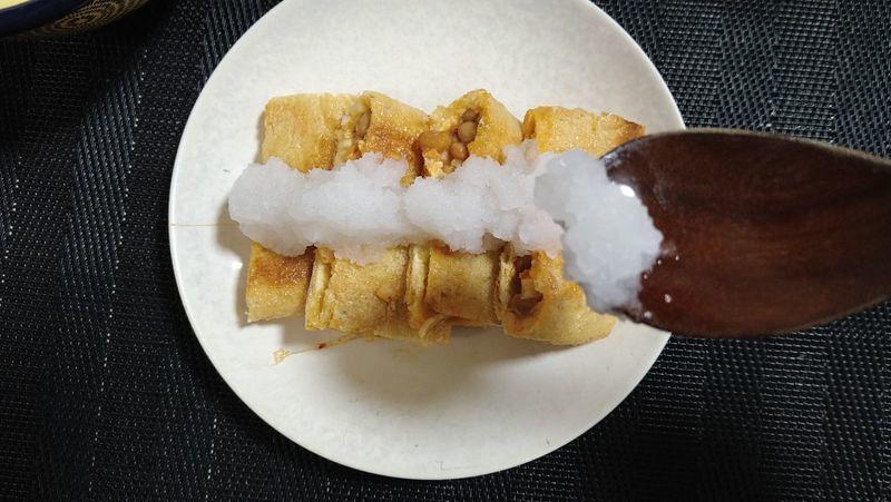納豆キムチの油揚げ挟み焼き_7