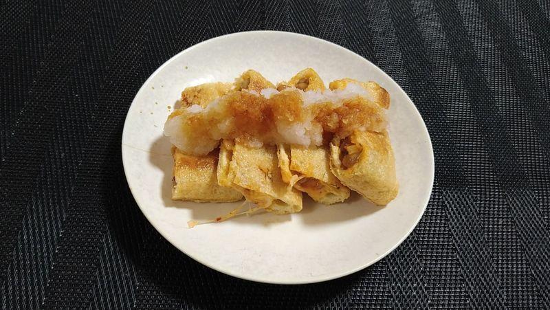 納豆キムチの油揚げ挟み焼き_完成