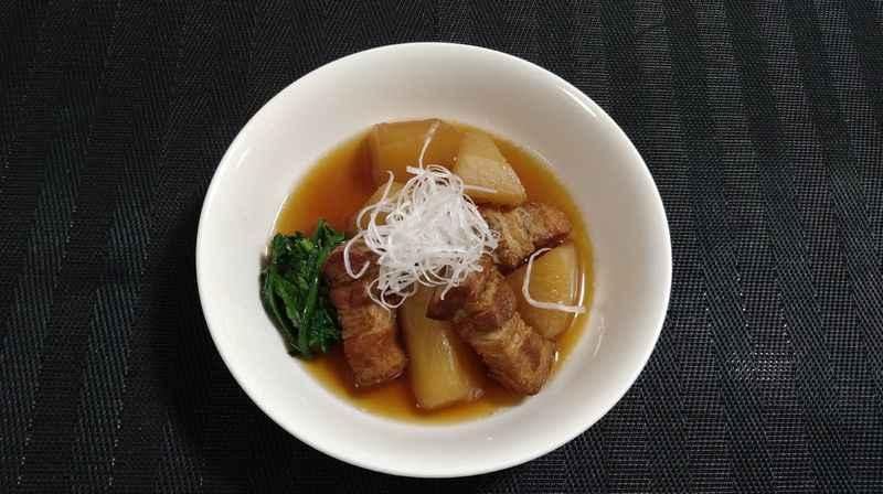 豚バラと大根の甘辛煮_完成