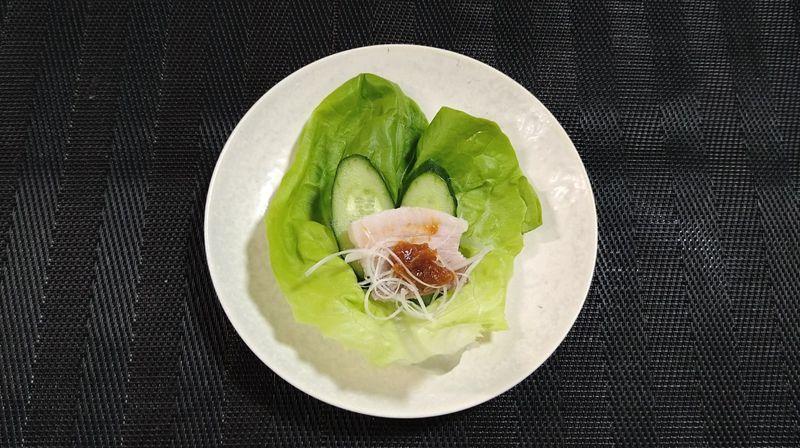 ゆで豚_食卓2