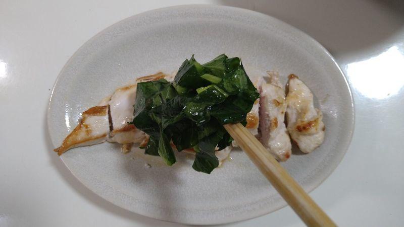 鶏むねソテー 小松菜ソース_6
