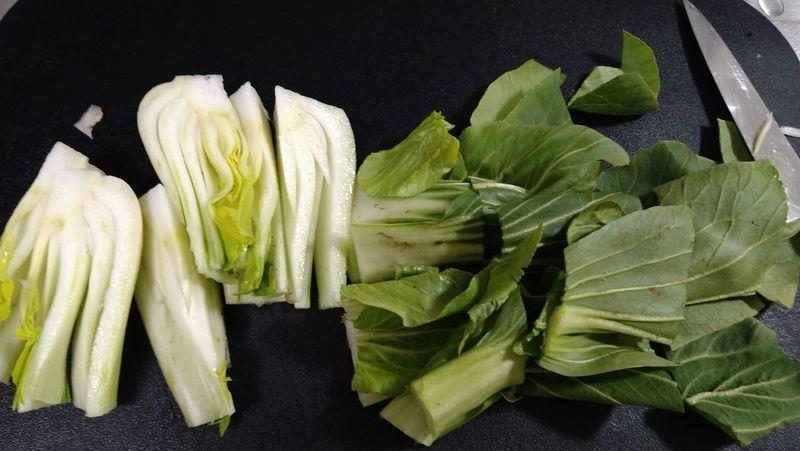 チンゲンサイと豚バラの炒め煮_1