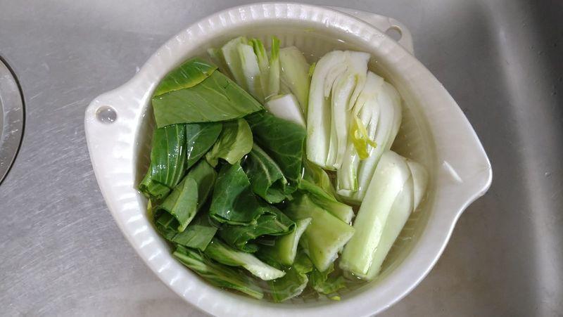 チンゲンサイと豚バラの炒め煮_2