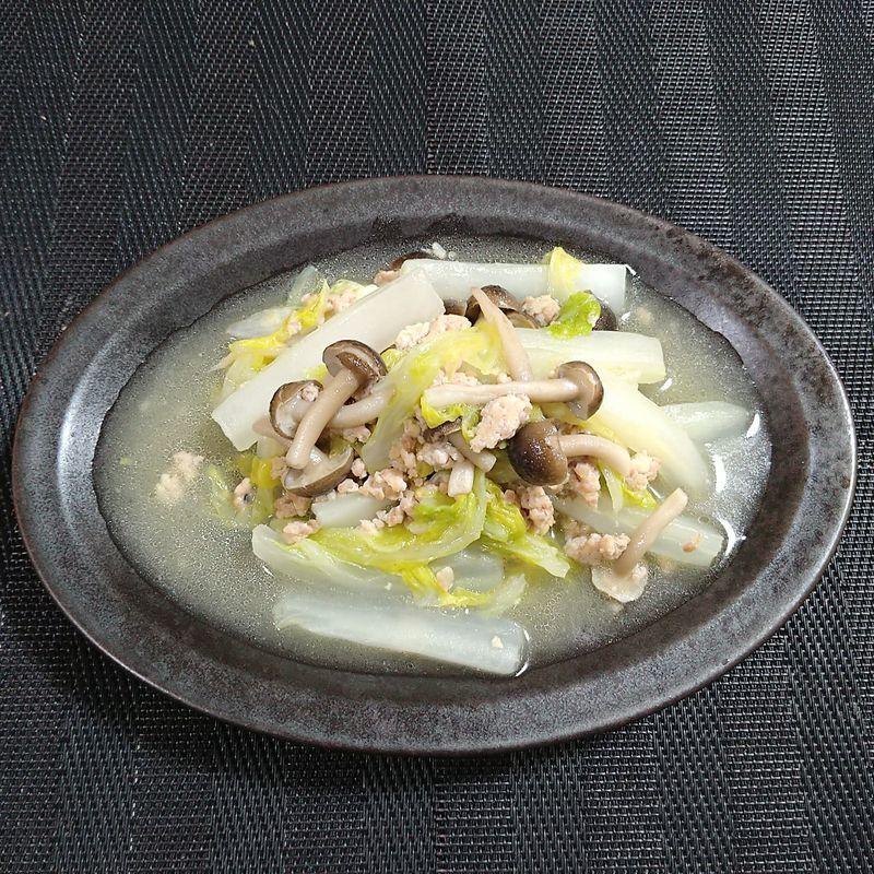 白菜と鶏ひき肉の煮込み_完成