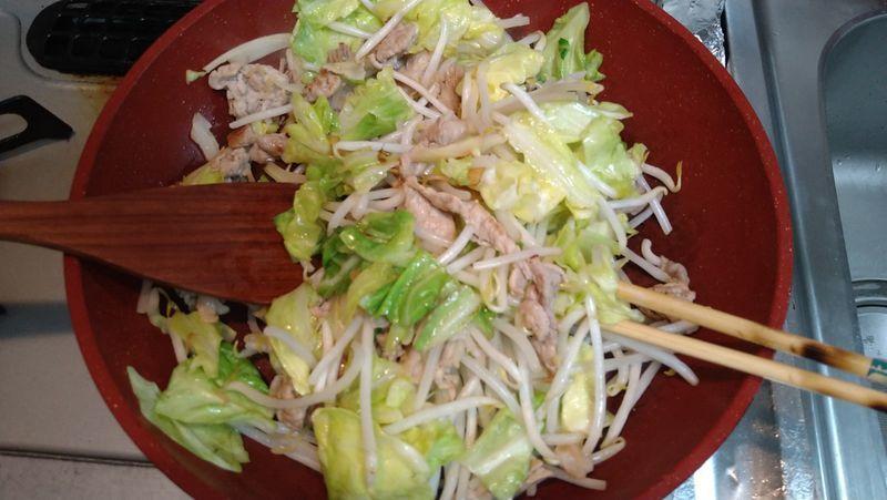 春キャベツで肉野菜炒め_9