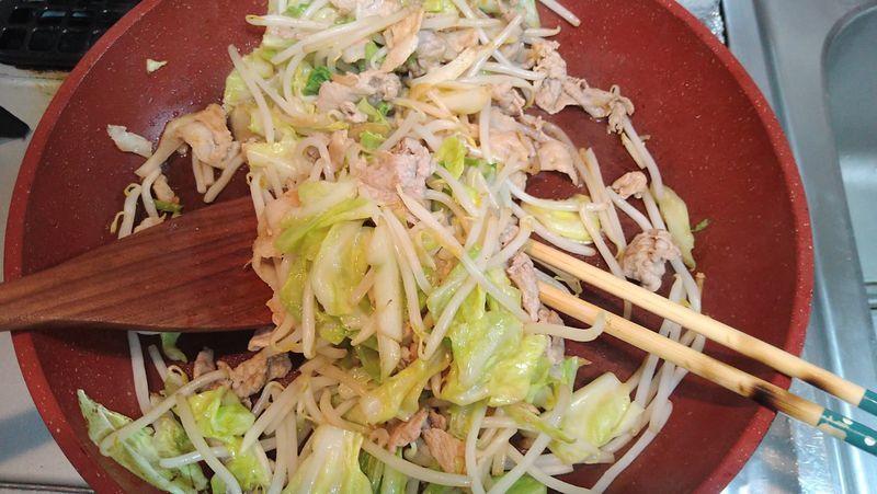 春キャベツで肉野菜炒め_11