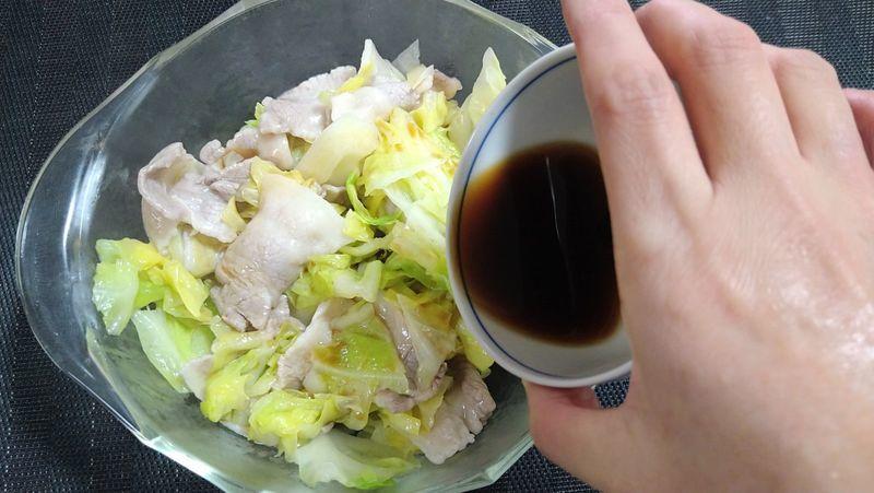 春キャベツとゆで豚の土佐酢あえ_8