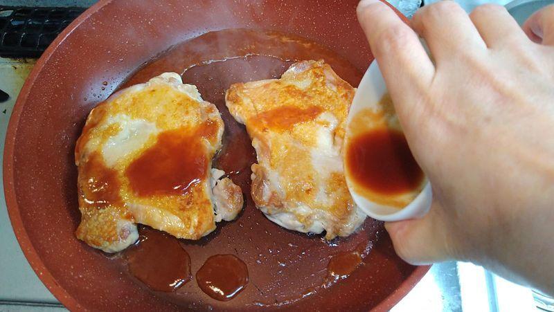 鶏肉のケチャップウスター焼き_9