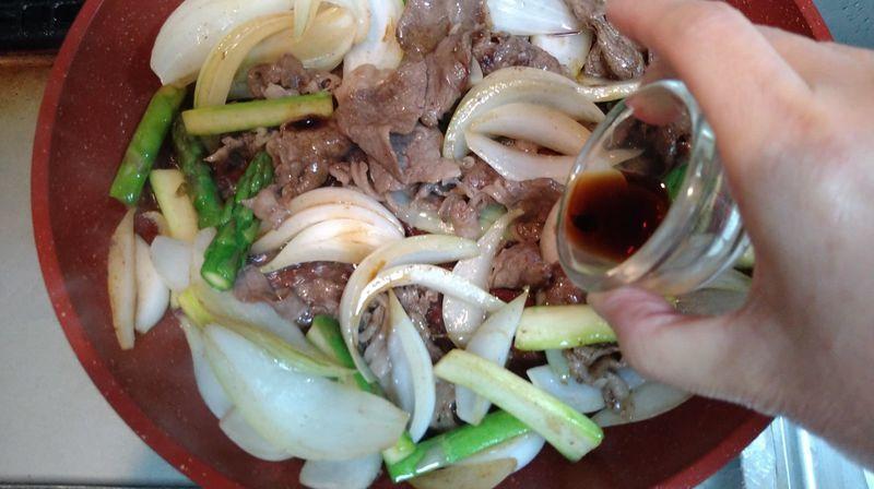 牛肉と春野菜の香り炒め_8