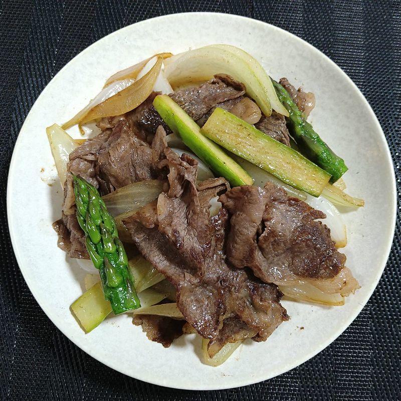 牛肉と春野菜の香り炒め_完成