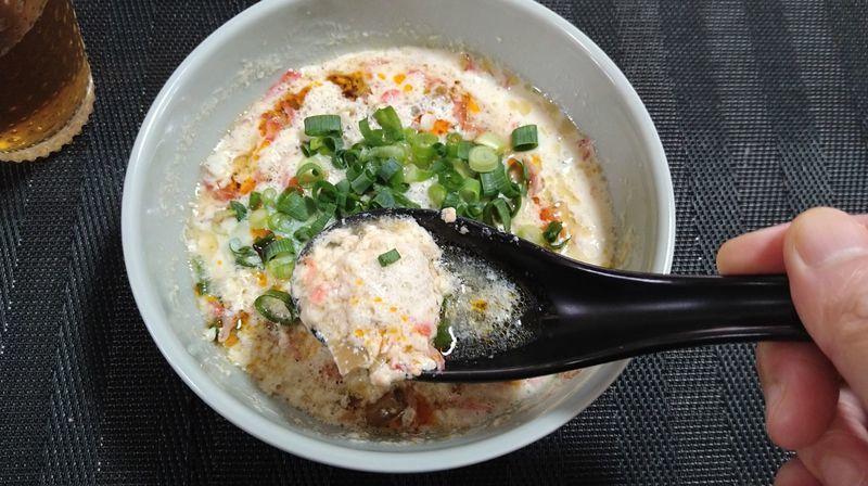 台湾風豆乳スープ_食卓2