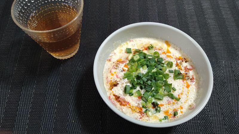 台湾風豆乳スープ_食卓1