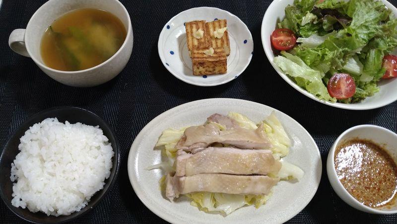 フライパンしっとり蒸し鶏_食卓1