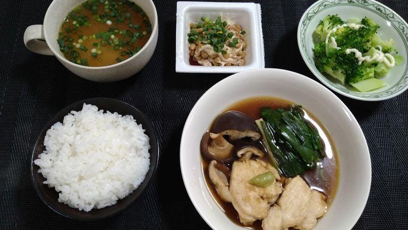 鶏の治部煮風_食卓