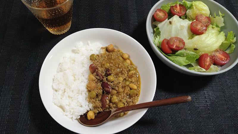 豆のカレー_食卓