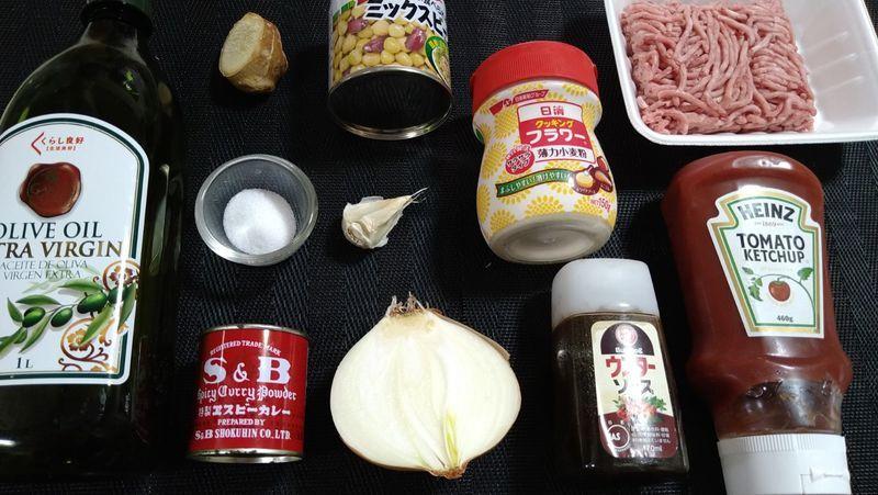 豆のカレー_材料