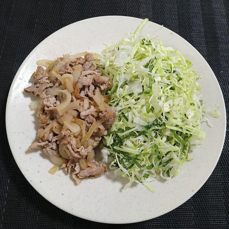 豚肉の梅しょうが焼き_完成