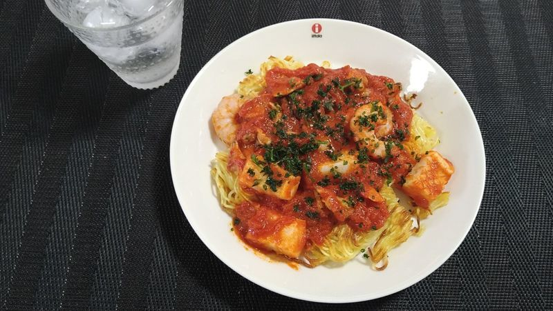 海鮮トマト焼きそば_食卓