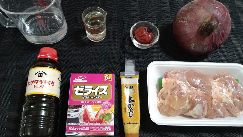 鶏の煮こごり_材料