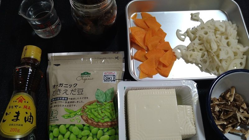 嫁いり豆腐_材料